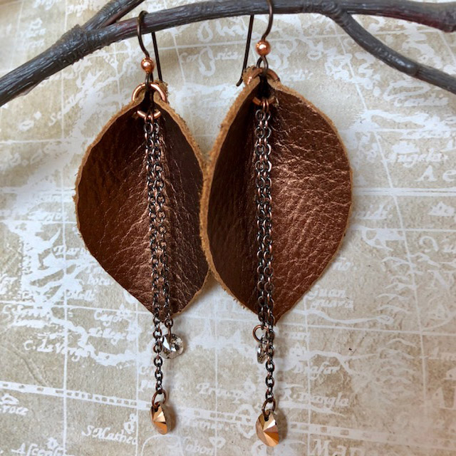 Earring For The Women Made By Leather