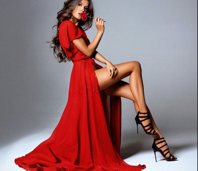 Slay With Your Sexy Leg By Wearing Astounding Slit Dress
